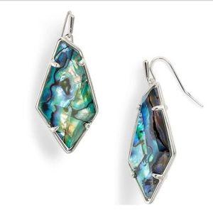 NWT Kendra Scott Emmie Earrings Abalone Silver